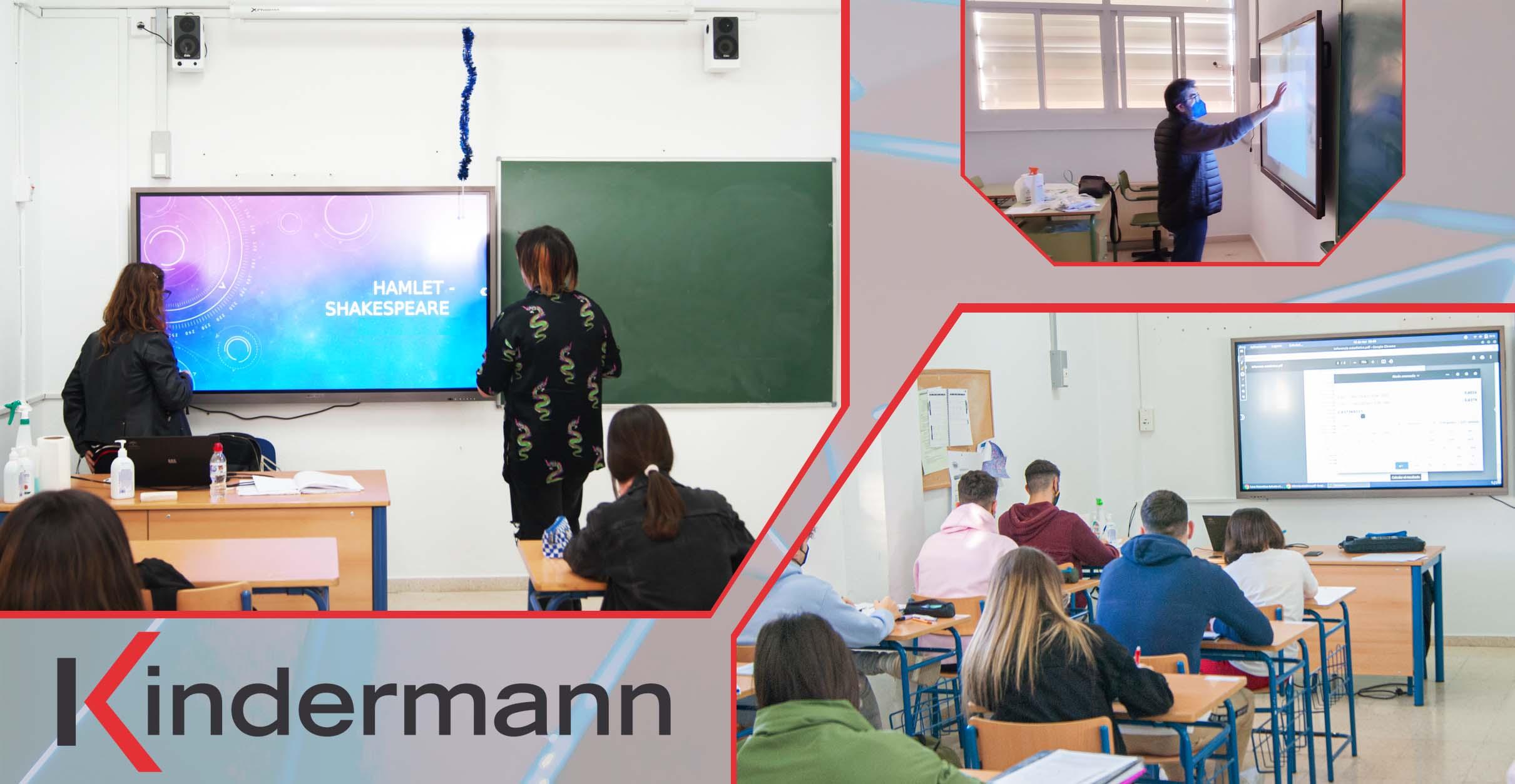 Monitor táctil Kindermann para los centros educativos
